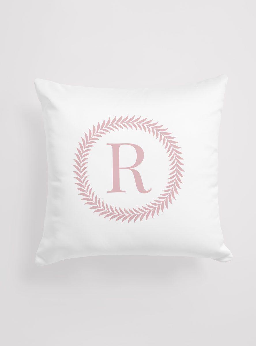 Capa de Almofada Personalizada Inicial Rosé