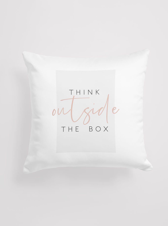 Capa de Almofada Think Outside The Box