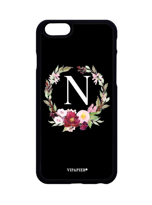 Case iPhone 6/6S Flower Black