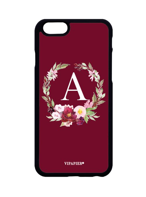 Case iPhone 6/6S Flower Marsala