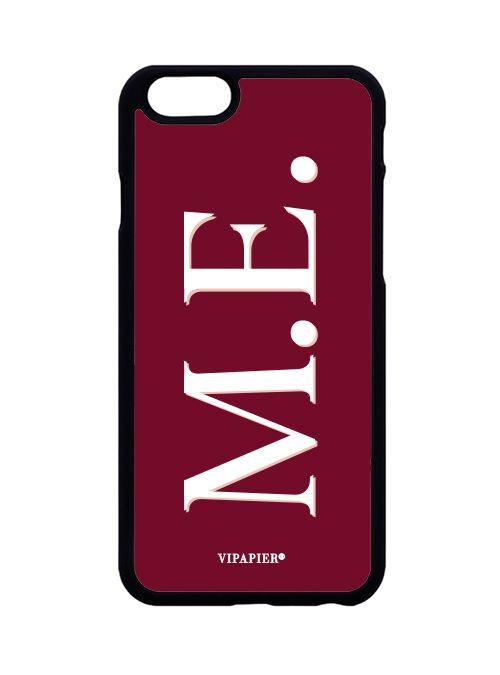 Case iPhone 6/6S PLUS Iniciais Marsala
