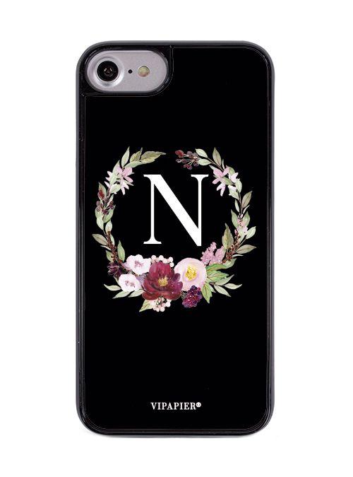 Case iPhone 7/8 PLUS Flower Black