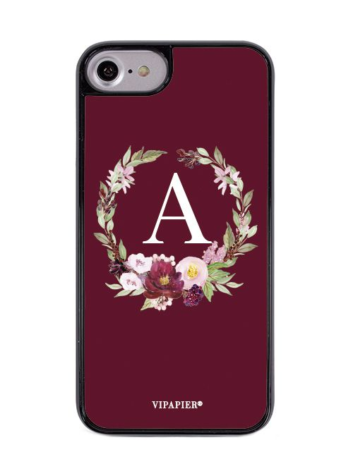 Case iPhone 7/8 Flower Marsala
