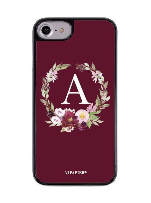 Case iPhone 7/8 PLUS Flower Marsala