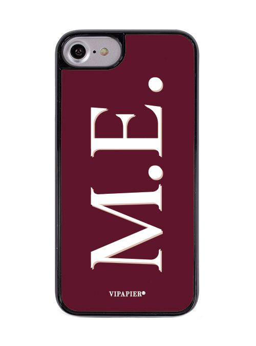 Case iPhone 7/8 Iniciais Marsala