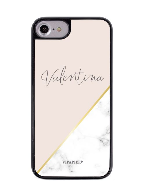 Case iPhone 7/8 Marble Blush Gold