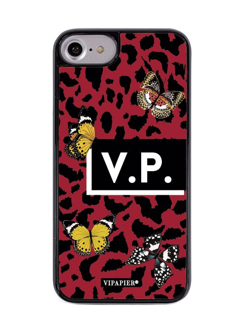 Case iPhone 7/8 PLUS Red Animal Print
