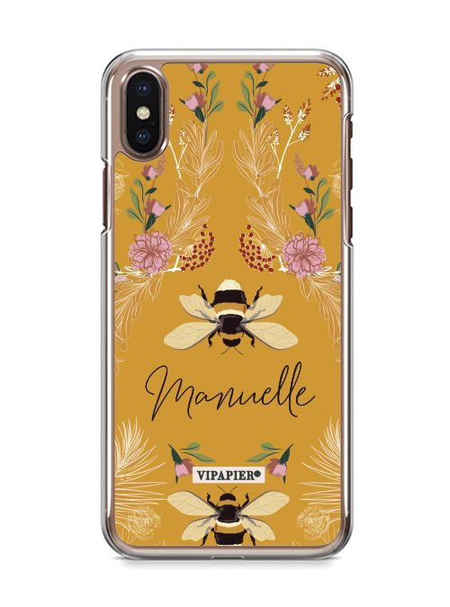 Case iPhone X Bee Flower