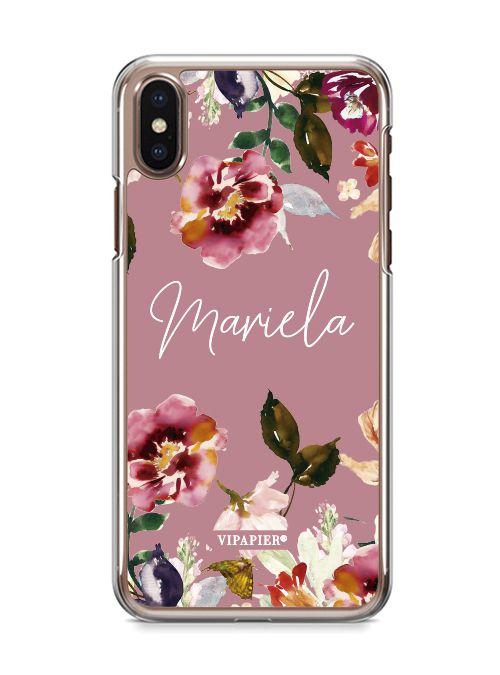 Case iPhone X Bloom Rose