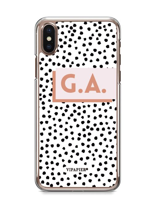 Case iPhone X Dots Blush