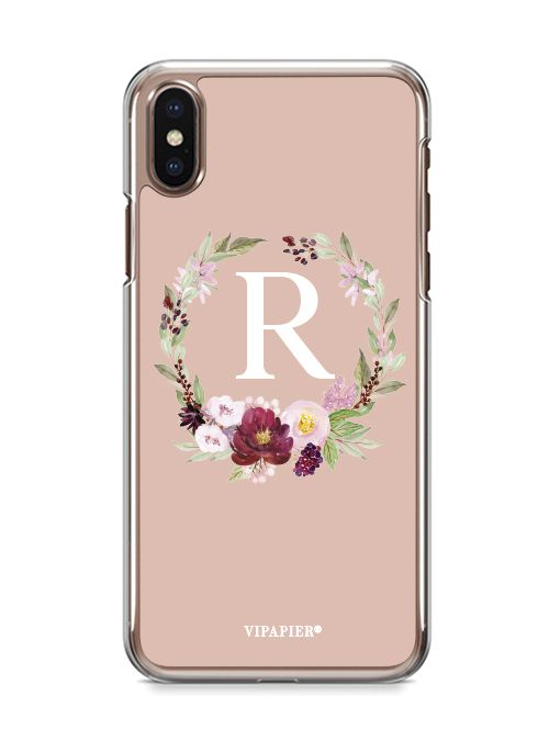 Case iPhone X Flower Nude