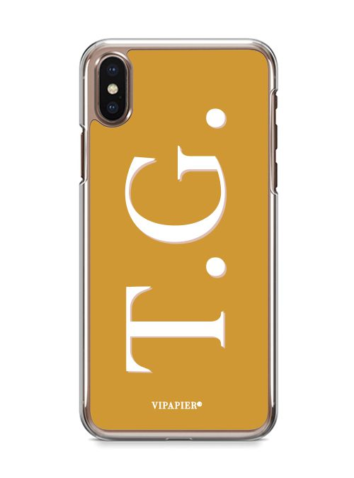 Case iPhone X Iniciais Ginger