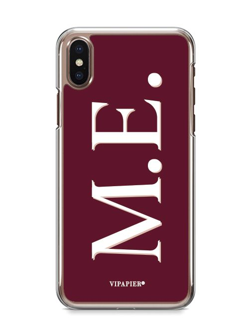 Case iPhone X Iniciais Marsala