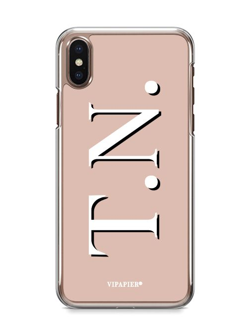 Case iPhone X Iniciais Nude