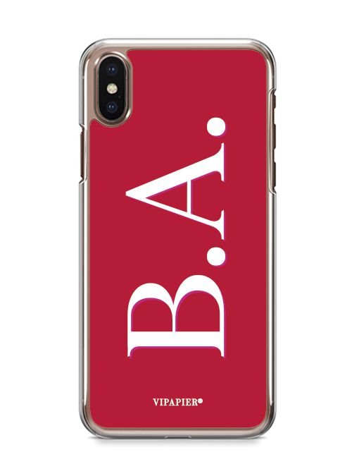 Case iPhone X Iniciais Red
