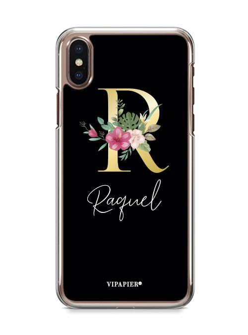 Case iPhone X Inicial Floral