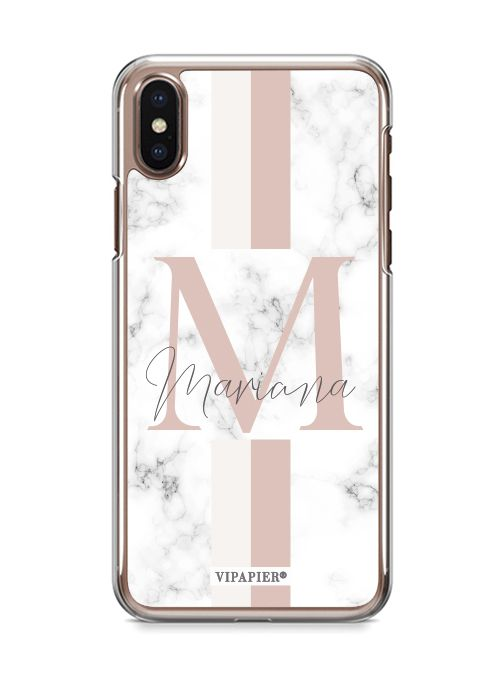 Case iPhone X Marble Blush