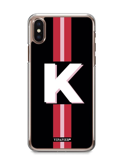 Case iPhone X Stripe Red