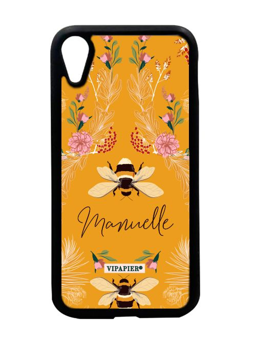 Case iPhone XR Bee Flower