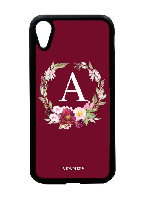 Case iPhone XR Flower Marsala