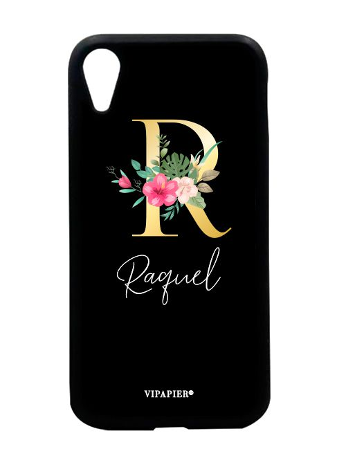 Case iPhone XR Inicial Floral
