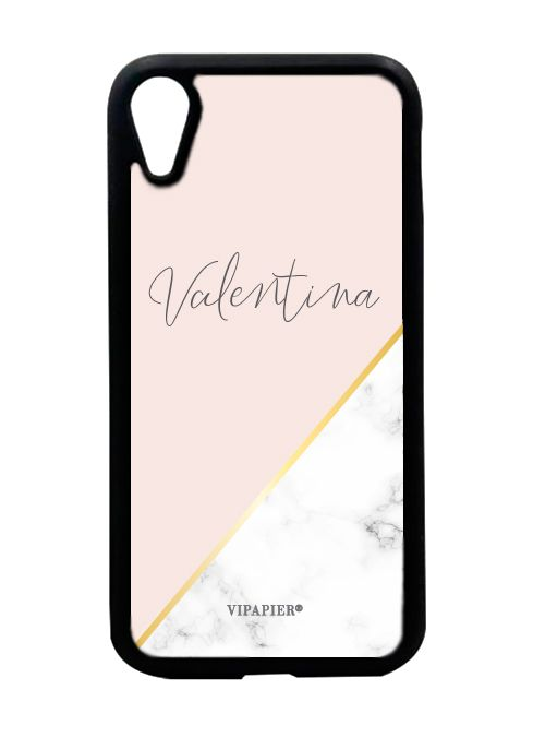 Case iPhone XR Marble Blush Gold