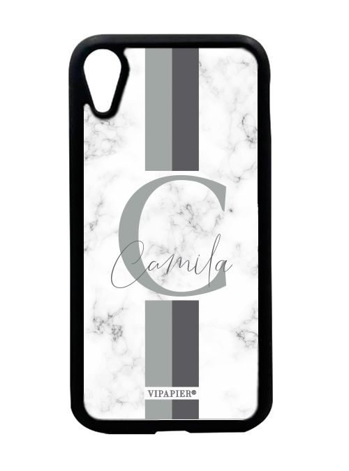 Case iPhone XR Marble Cinza