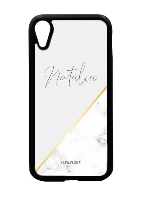 Case iPhone XR Marble Gold