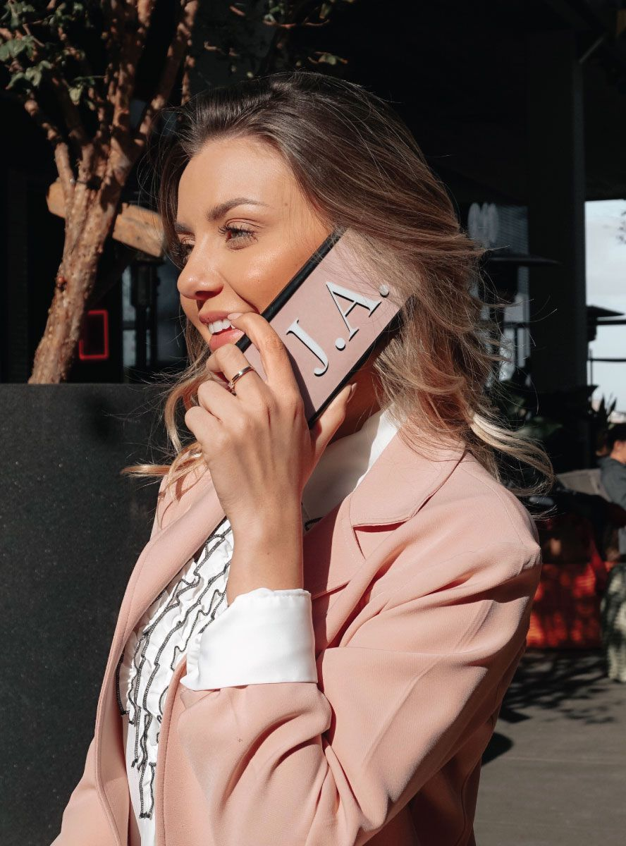 Case iPhone XS Max Iniciais Nude
