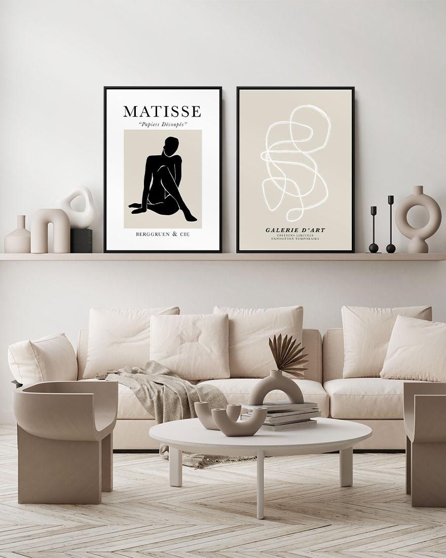 Kit 2 Quadros - Galerie Offwhite e Matisse