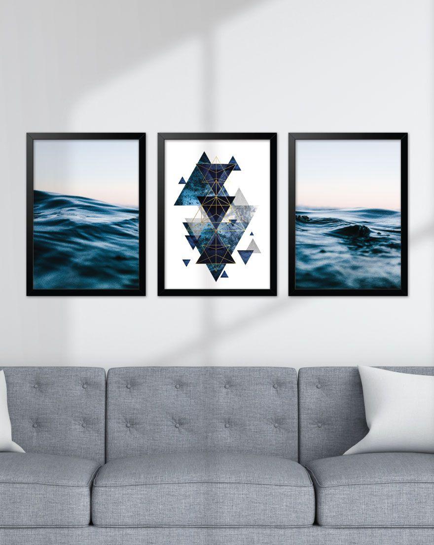 Kit de Quadros - Blue Waves