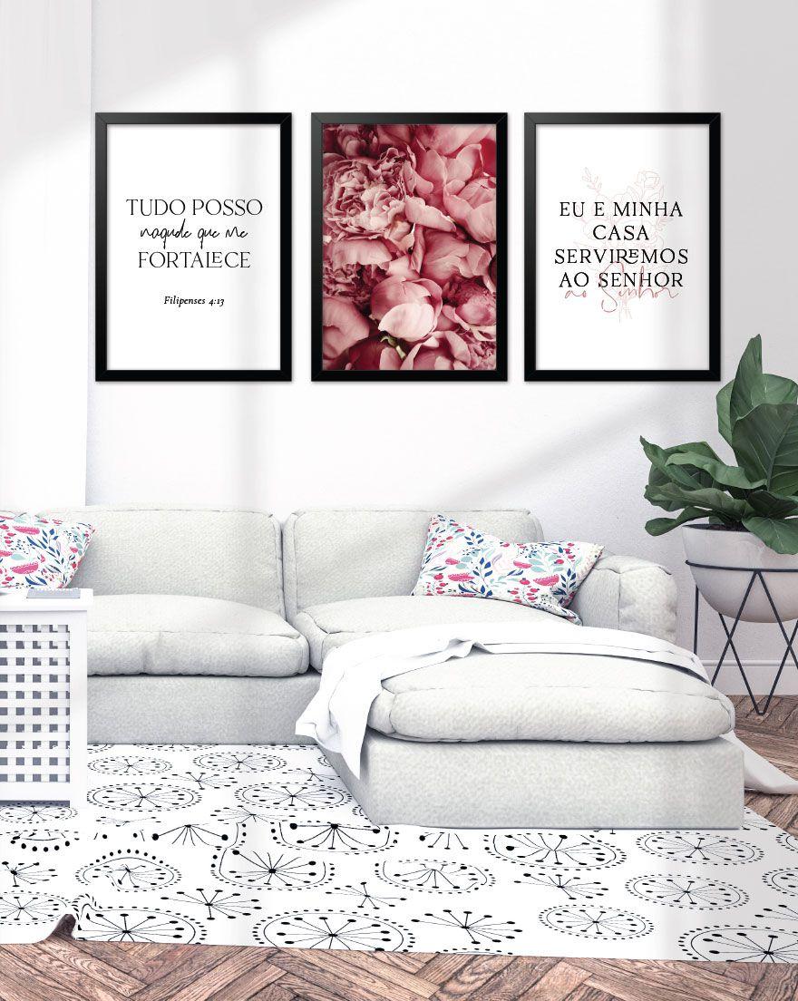 Kit de Quadros - Eu e Minha Casa Pink