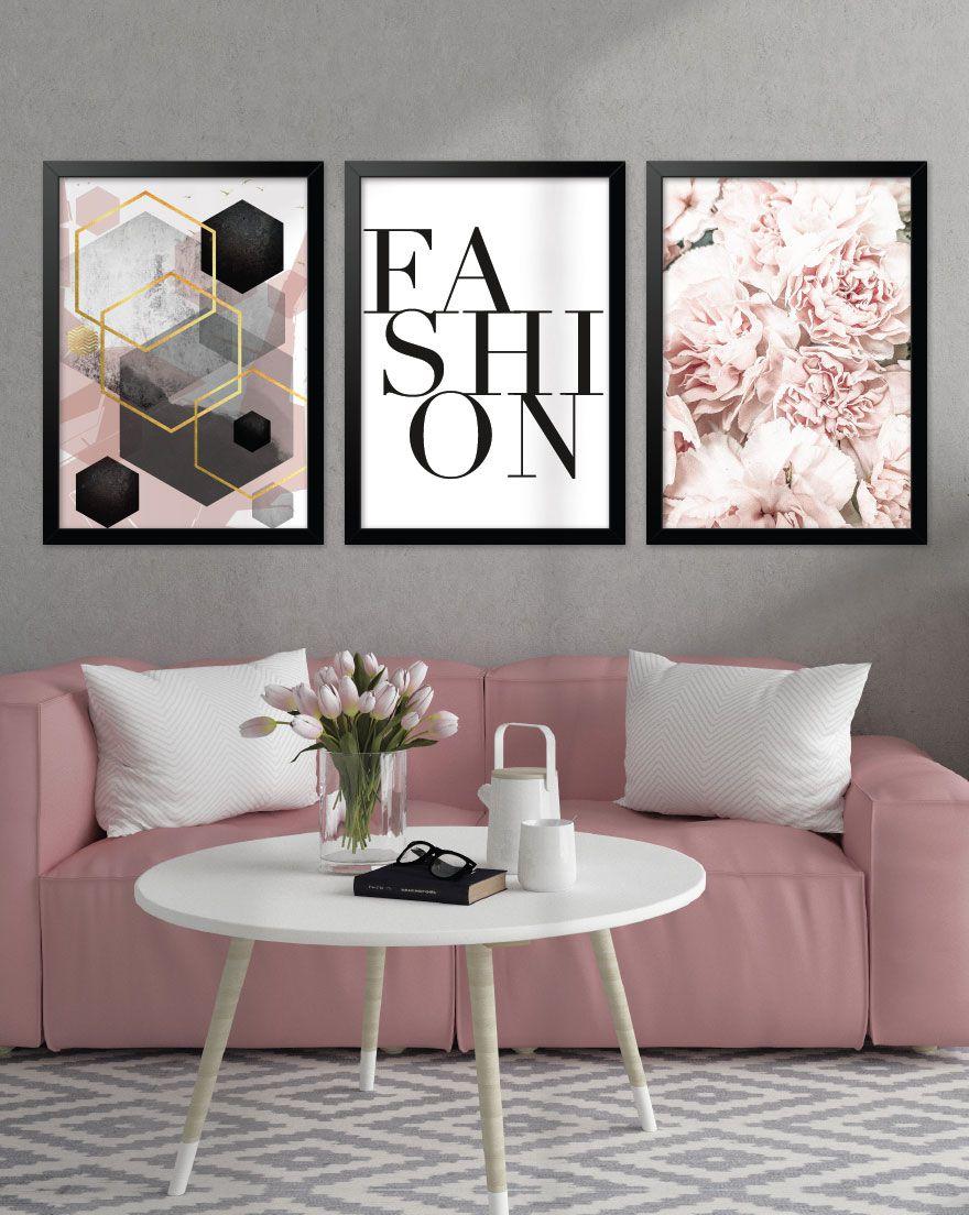 Kit de Quadros - Fashion Flowers
