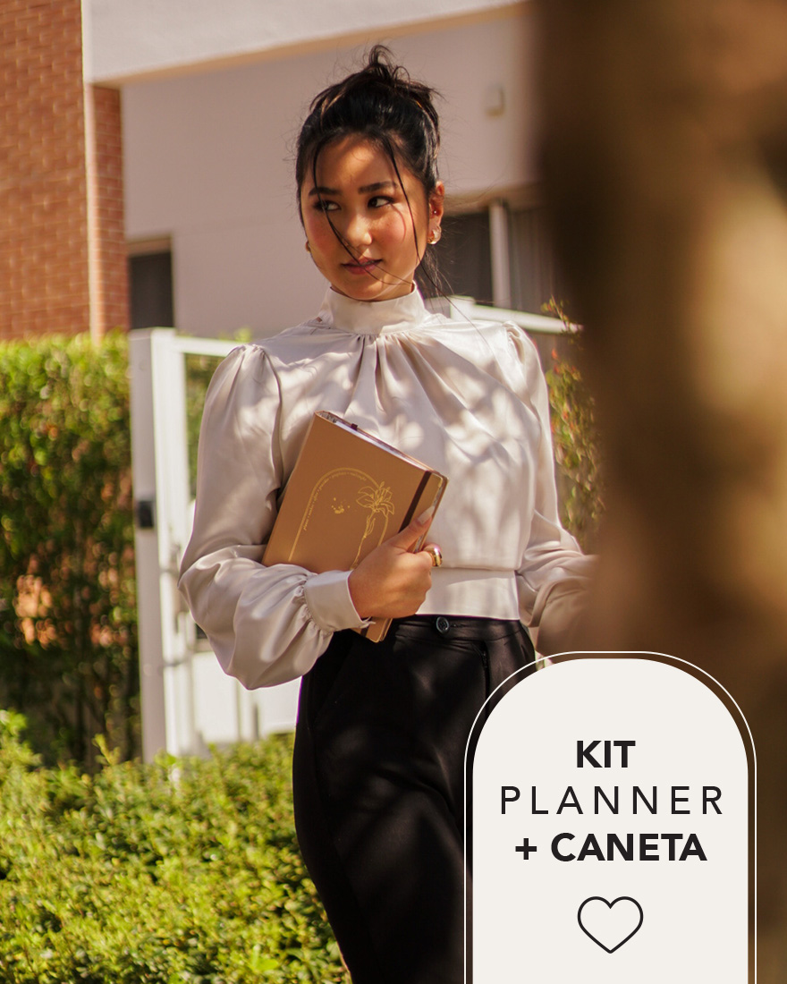 Kit Planner 2022 + Caneta   Cappuccino