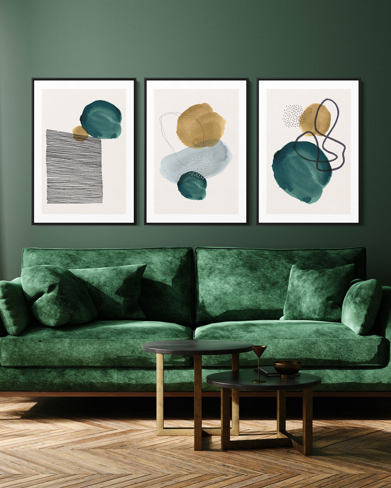 Kit Quadros Decorativos Abstratos - Através do Olhar