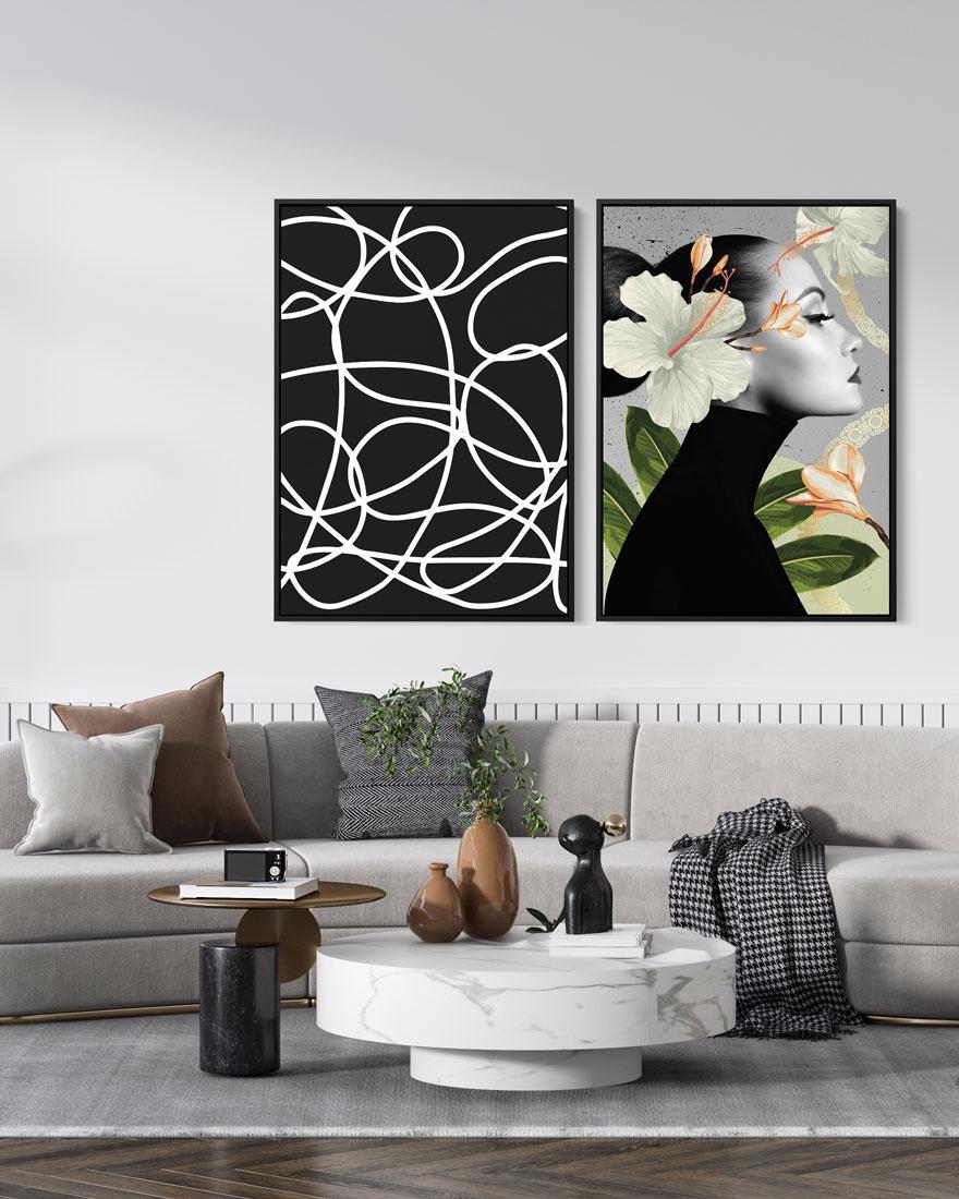 Kit Quadros Decorativos Abstratos - Collage Elos