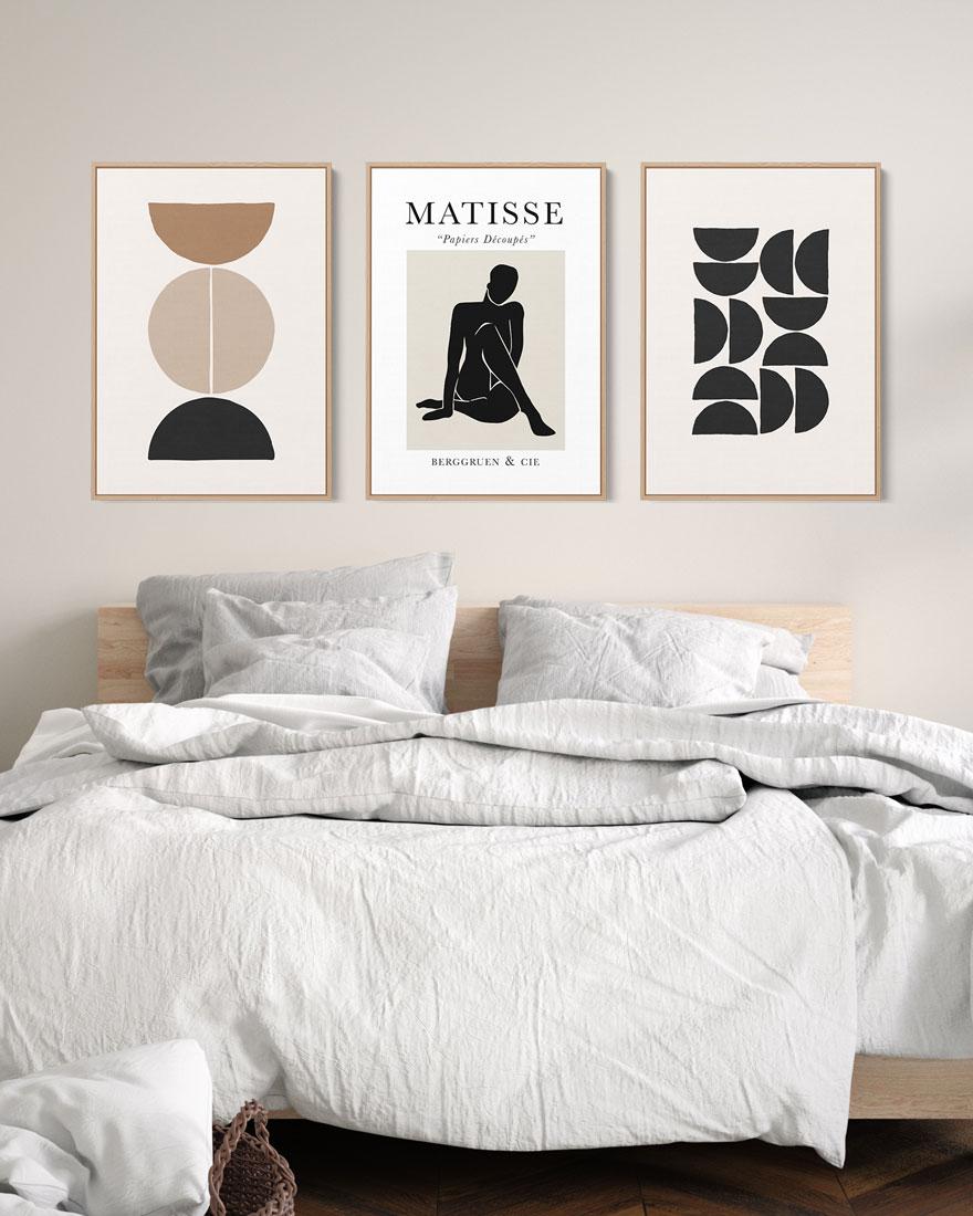 Kit Quadros Decorativos Abstratos - Matisse