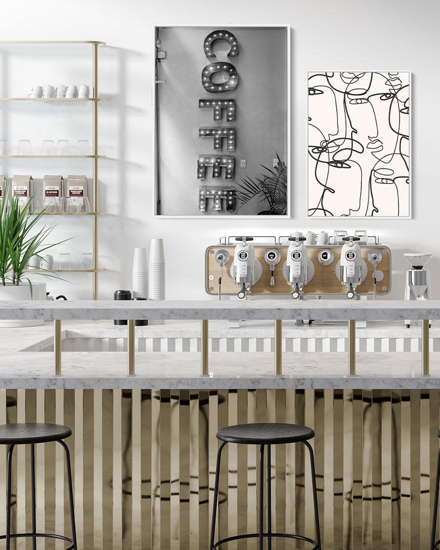 Kit Quadros Decorativos - Café Abstrato