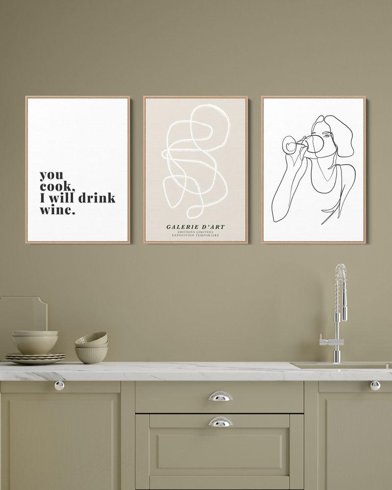 Kit Quadros Decorativos Cozinha - You Cook