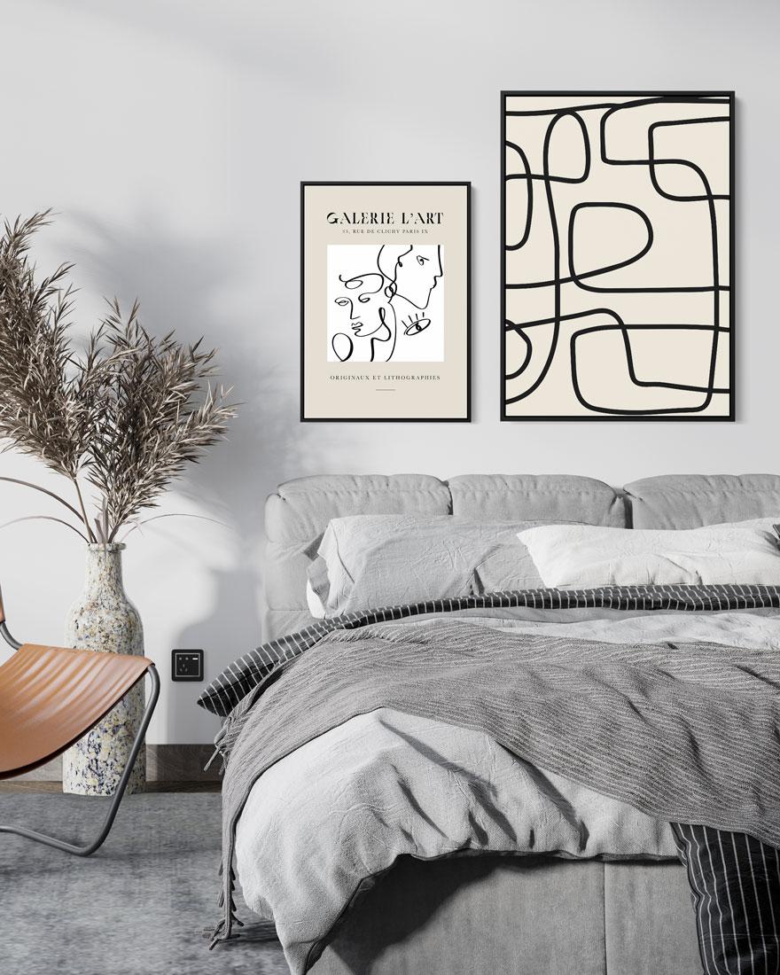 Kit Quadros Decorativos - Galerie L'Art Elos