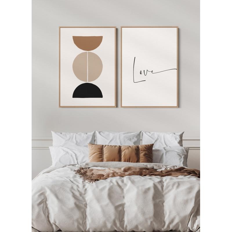 Kit Quadros Decorativos - Love Meia Lua