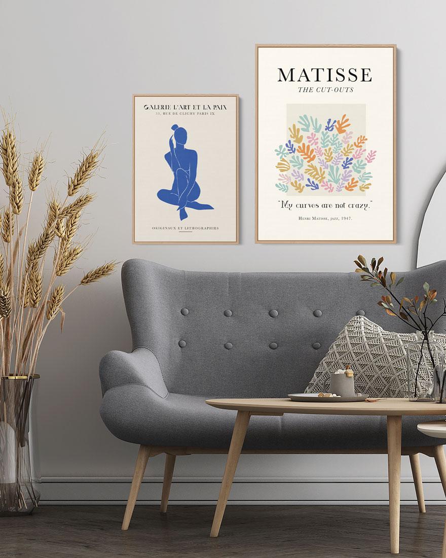 Kit Quadros Decorativos Matisse Coloré