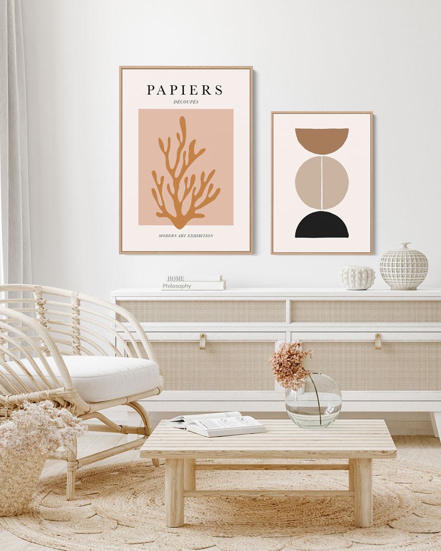 Kit Quadros Decorativos - Papiers Découpés
