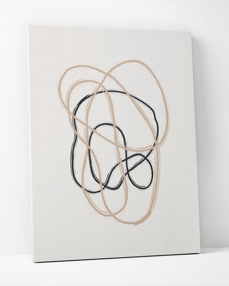Placa Decorativa Abstração