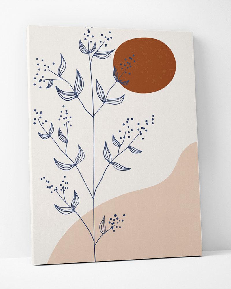 Placa Decorativa Abstração Floral II