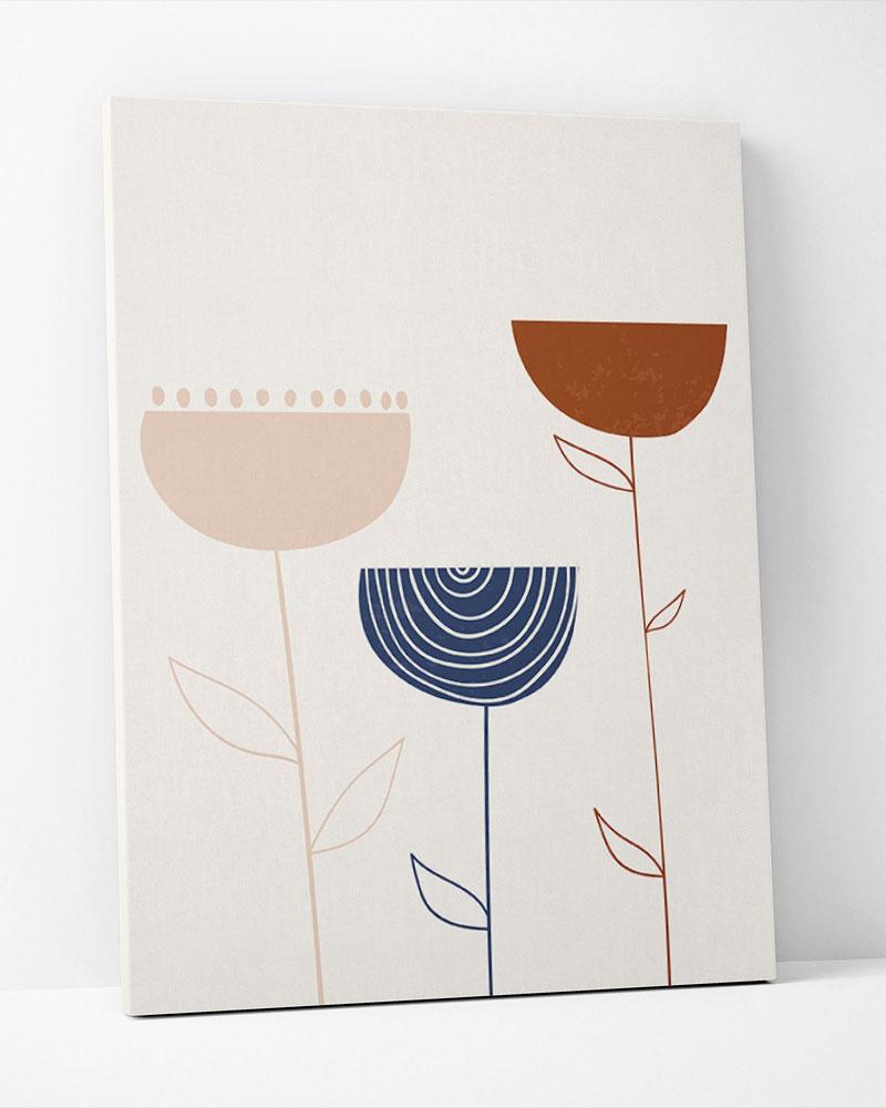 Placa Decorativa Abstração Floral III