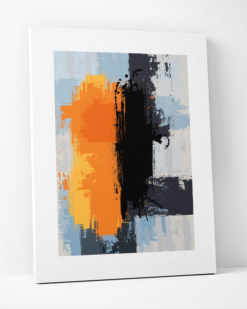Placa Decorativa Abstrato Um Toque De Cor