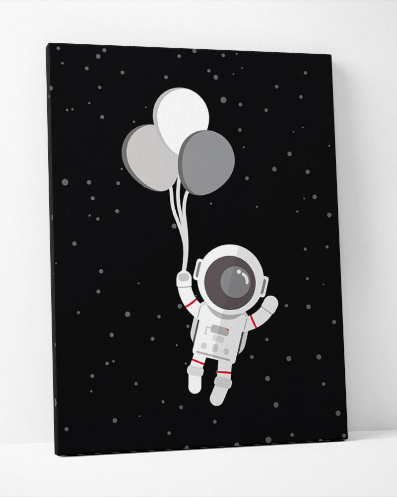 Placa Decorativa Astronauta Balão
