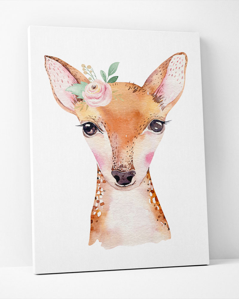 Placa Decorativa Bambi Baby Girl