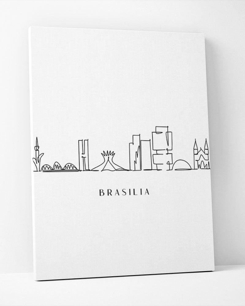 Placa Decorativa Brasília Line